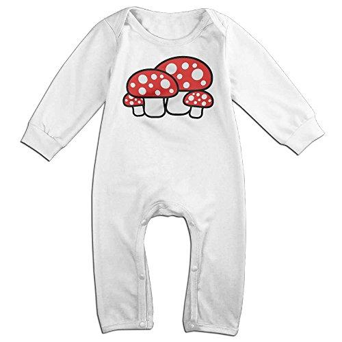 Dadada Newborn Cute Mushroom Long Sleeve Romper Bodysuit 24 Months (Cute Mushroom Costume)