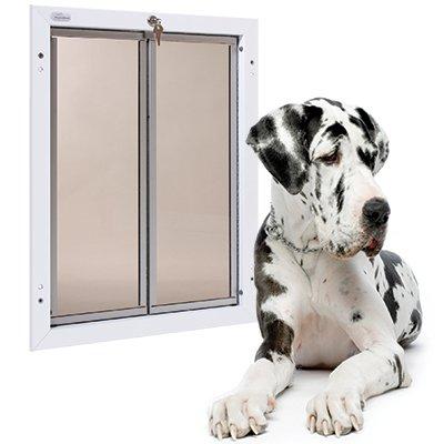 Plexidor Security Door - PlexiDor Performance Pet Doors X-Large White Door Mount