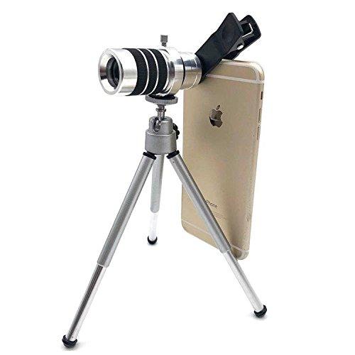 Telephone Scope - 10x18 Definition Phone Telescope Dual Optic Lens Monocular - Set Headphone Speech Sound Earphone Call - 1PCs