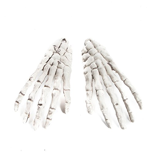 Factory Direct Craft Package of 36 Mini Skeleton Hands for Halloween Decorations, Gothic, Day of the (Skeleton Halloween Crafts)