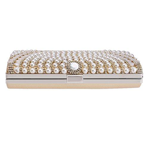 Rings Diamond package la Mariage BigForest white de sac sac de de de soir¨¦e Perle carr¨¦ sac party Pochette Black Femme 5x1wdYgq