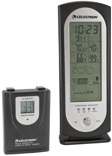 Celestron 47005 Deluxe Compact Weather Station (Black) Deluxe Wireless Weather Station