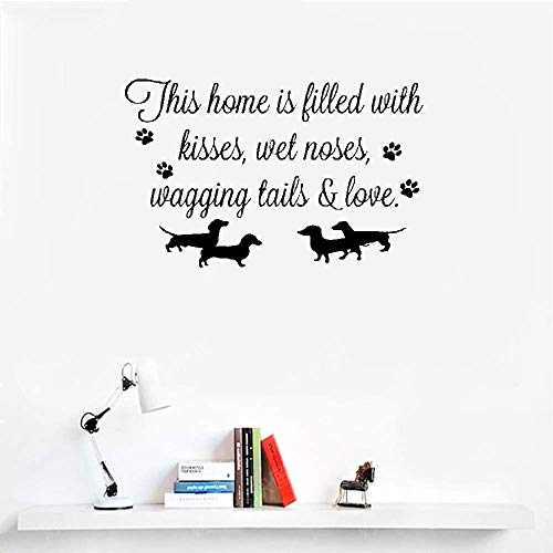 Quotes Wall Sticker Mural Decal Art Home Decor This Home is Filled Kisses Wet Noses Wagging Tails and Love