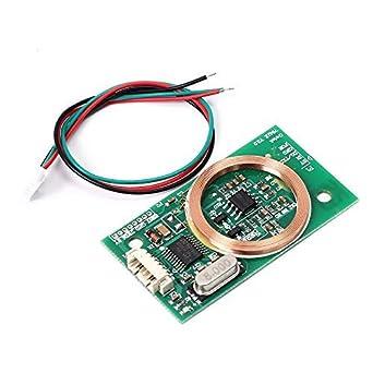 Módulo lector RFID, DC 5V 3Pin 125KHz UART módulo inalámbrico lectura EM4100 8CM para Arduino IC tarjeta PCB antena kits de sensor