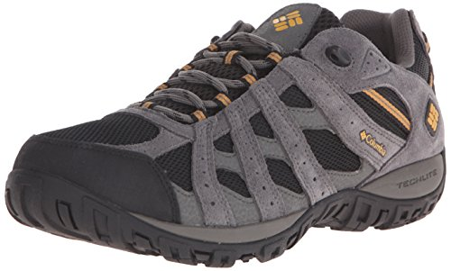 (Columbia Men's Redmond Waterproof Hiking Shoe, Black, Squash, 12 D US)