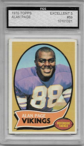 1970 Topps Football Alan Page Card # 59 Excellent Condition Minnesota Vikings