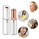 Woman Mini Travel Electric Facial Hair Remover Female Epilator Painless Lipstick Razor for Lip Chin Cheeks Arms Legs Sideburns 18K Gold-Plated Waterproof Rechargeable