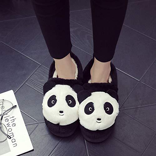E 27cm Tridimensionale Uomini black figlio Casa Hong Coppia Jia Cotone Adulti Caldo Di Donne In Cartoon Nuovo Black 25cm Cotone Pantofole Scarpe Inverno Genitore PRIwq71w
