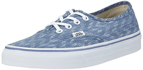 Vans Authentic True Blue Sneakers U Chevron Chevron Blu White Denim Unisex Denim rO4rqv5
