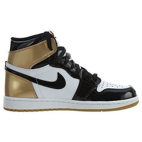 Metallic 1 Schuhe Gold Air Sneaker Black Black Jordan Retro High NRG OG vwpqA