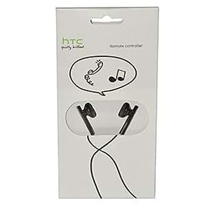 Original Htc Teléfono Stereo Headset XRC de E160X–Embalaje Original–con función de descolgar llamadas y micrófono en negro para compatible HTC Teléfonos Móviles Con Conexión Jack De 3,5mm