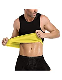 Men's Body Shaper Waist Trainer Vest Shirt Hot Sweat Workout Tank Weight Loss Shapewear Slimming Undershirt,XL