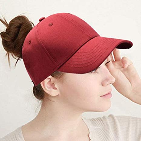 OUTER Ponytail Baseball Cap Hat Adjustable Outdoor Sports Cap Hat for Women Famale Girls