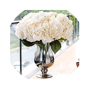 Artificial Flowers for Wedding Hydrangea Silk Flower Bouquet for Home Garden Party Birthday Decoration 5 Heads/Bunch 61