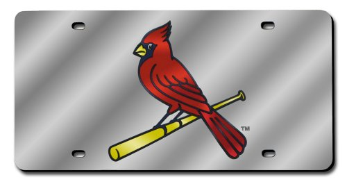 Cardinals Laser - Rico Industries MLB St. Louis Cardinals (Silver) Laser-Cut Auto Tag