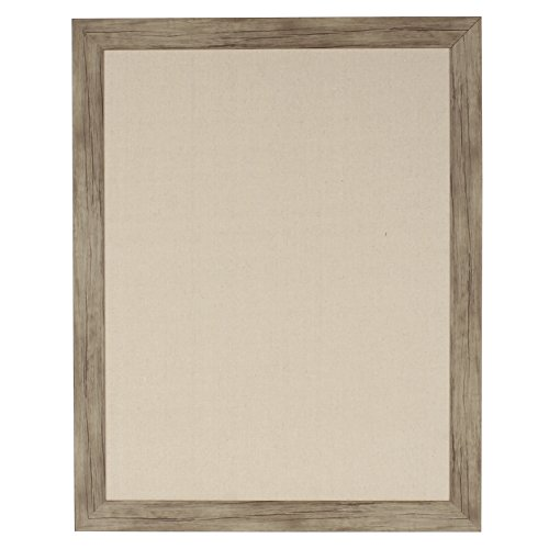 DesignOvation 209370 Beatrice Wall Mounted Framed Linen Fabric Pin Board, Large,23x29