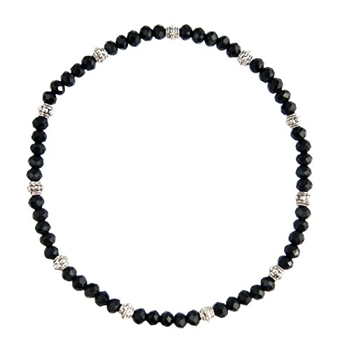 Stretch Bead Anklet Black Ha product image