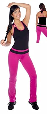 Exercise Stretch Pant and Tank Top 2 Piece Set by D Active Wear