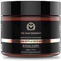 The Man Company Skin Brightening Cream Multani Mitti and Coco Butter, 50 g