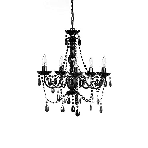 The Original Gypsy Color 5 Light Medium Black Chandelier H21  W19  Black Metal Frame with Black Acrylic Crystals  sc 1 st  Amazon.com & Gothic Lighting: Amazon.com azcodes.com