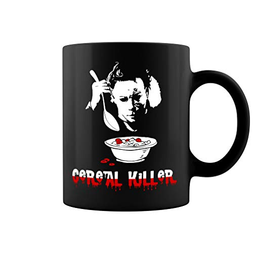 Michael Myers Cereal Killer Ceramic Coffee Mug Tea Cup (11oz, Black)]()