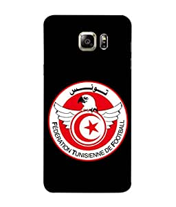 ColorKing Football Tunisia 04 Black shell case cover for Samsung Note 5