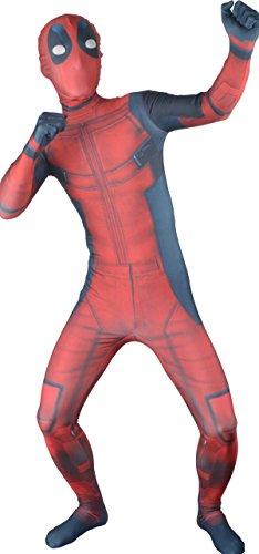 Seeksmile Adults 3D Deadpool Costume (Large, Adults 3D) (Adult Deadpool Costume)