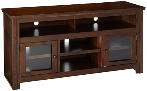Ashley Furniture Signature Design - Harpan TV Stand - 60 in - Traditional Style - Brown - French Country Oak Armoire