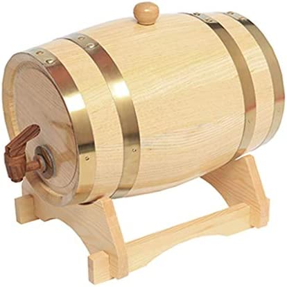 Barril de Roble Barril de vino de roble, cubo de whisky dispensador, almacenamiento o elaborando cerveza vino tinto licores cerveza 1.5L / 3L / 5L / 10L (con grifo) Vino, cerveza, sidra, whisky.