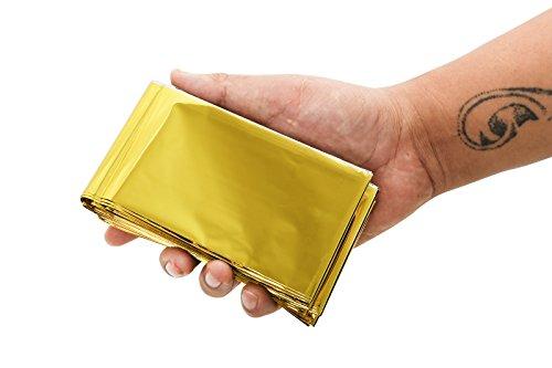 Somine Mantas de Emergencia(Paquete de 10) Tamaño Grande:210 X160cm, diseñado con hasta un 90% de retención de Calor 10
