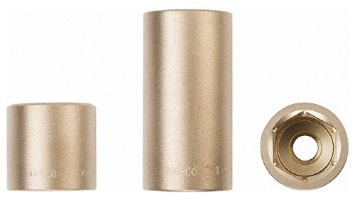 "1/2"" Drive, 18mm Nonsparking Standard Hand Socket, 6 Points, 1-7/16"" OAL -  Ampco"