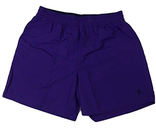 POLO RALPH LAUREN SWIM TRUNK SHORTS PURPLE MENS (SMALL)