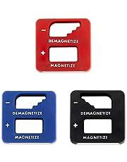 مغناطيس دقيق Demagnetizer-Magntizer من شركة Katzco - عبوة من 3 ألوان - أسود وأحمر وأزرق - للمفك والأدوات الصغيرة والمسامير الصغيرة والمسامير الكبيرة، والمثاقب وفتحات الحفر والبراغي وأدوات البناء
