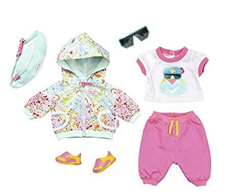 Zapf Creation 827192 Baby Born Playfun Deluxe Fahrrad Outfit Rosa Weiß Mint