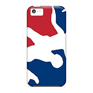 Shock Absorption Hard Phone Cases For Iphone 5c (UAQ18323HRxG) Unique Design Colorful Usa Wrestling Logo Pictures