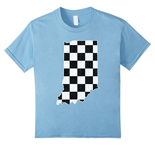 Kids Indianapolis Indiana State T Shirt Vintage Distressed Look 4 Baby Blue