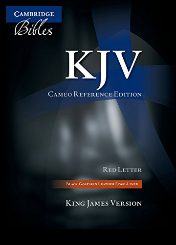 KJV Cameo Reference Bible, Black Edge-lined Goatskin Leather, Red-letter Text, KJ456:XRE Black Goatskin Leather
