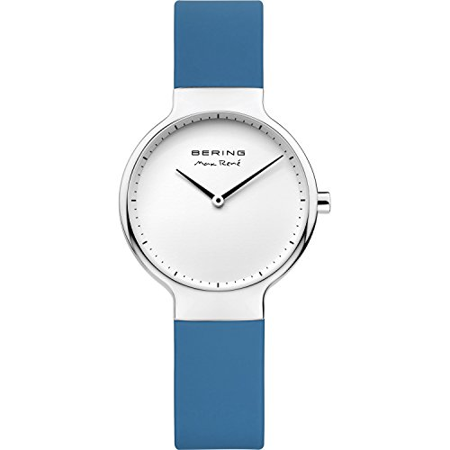 BERING Time 15531-700 Womens Max René Collection Watch with Silicone Band and scratch resistant sapphire crystal. Designed in Denmark.