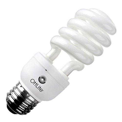 OttLite 25ED420 25W Swirl Screw in Light Bulb, Natural Light Like