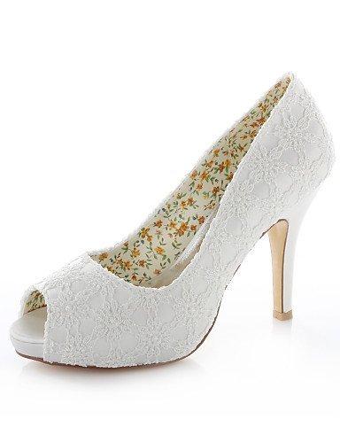 ShangYi Schuh Damen - Hochzeitsschuhe - Zehenfrei - Sandalen - Hochzeit / Kleid - Elfenbein