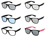 SPORTS SUNGLASSES, UV 400 PROTECTION Bulk (6 Pack)