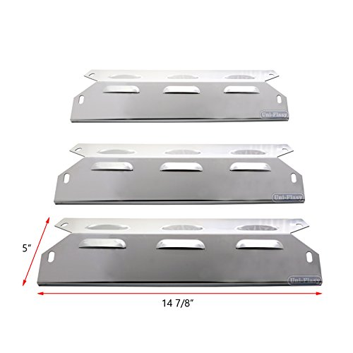 Uniflasy 3-Pack Stainless Steel Repair Replacement Part Heat Plate Shield Heat Tent Flavorizer Bar Burner Cover Flame Tamer for Kenmore 146.23678310, 146.23679310 and More Grill Models
