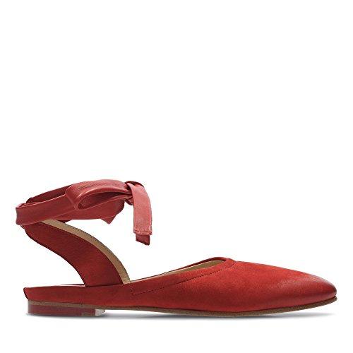 Scarpe Sofia Pelle Clarks Grazia A In Rosso Combi qxfHPwS51