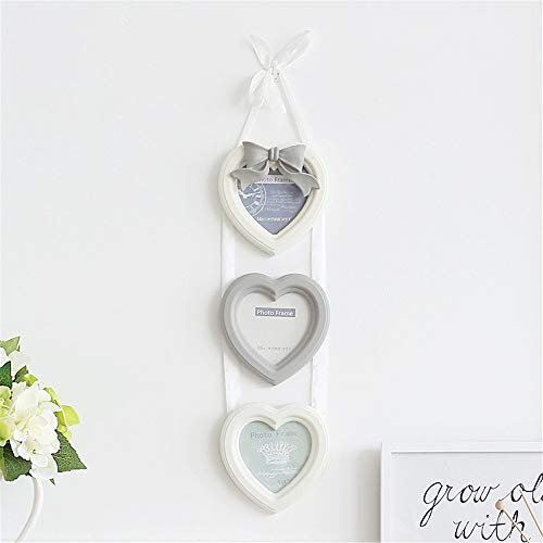 BANDAO Butterfly-Knot Photo Wall Core-Shaped 4-inch-3 Connecting Frame Composite Wall-Hanging Frame(Beige) (Photo Butterfly Shaped Frame)