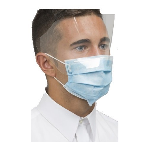 Mydent MK-7400 Level 3 Dual Fit Ear-Loop Face Mask with Shield (Pack of 25)