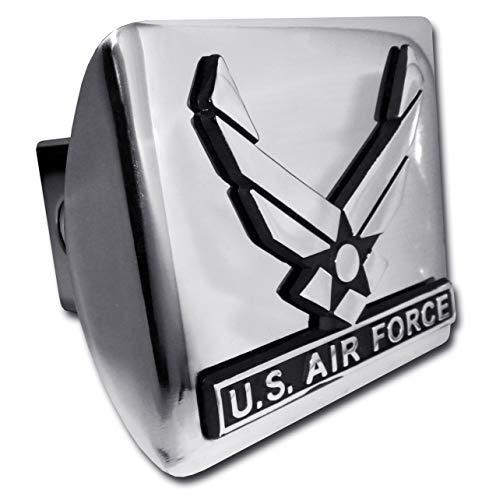 - Elektroplate U.S Air Force Wings Chrome Metal Hitch Cover