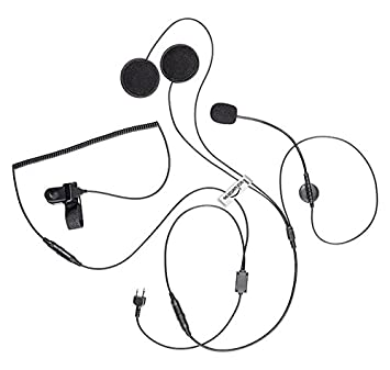 PROFESSIONAL Motorcycle Helmet Earpiece / Headset with PTT Microphone for MIDLAND Radio (2 Pin)