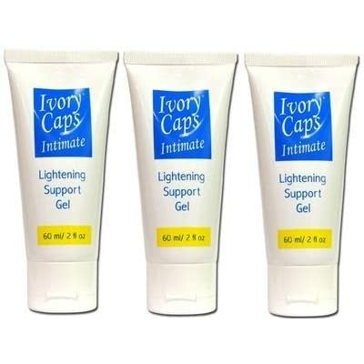 3x IvoryCaps Intimate Private Parts Underarms Lightening Whitening Cream Gel Elbows and Knees , Dark Spot, Lines and Marks Scars or Burns, Private areas bleaching