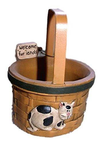 Amazon.com: blossom bucket blanco y negro gato en cesta de ...
