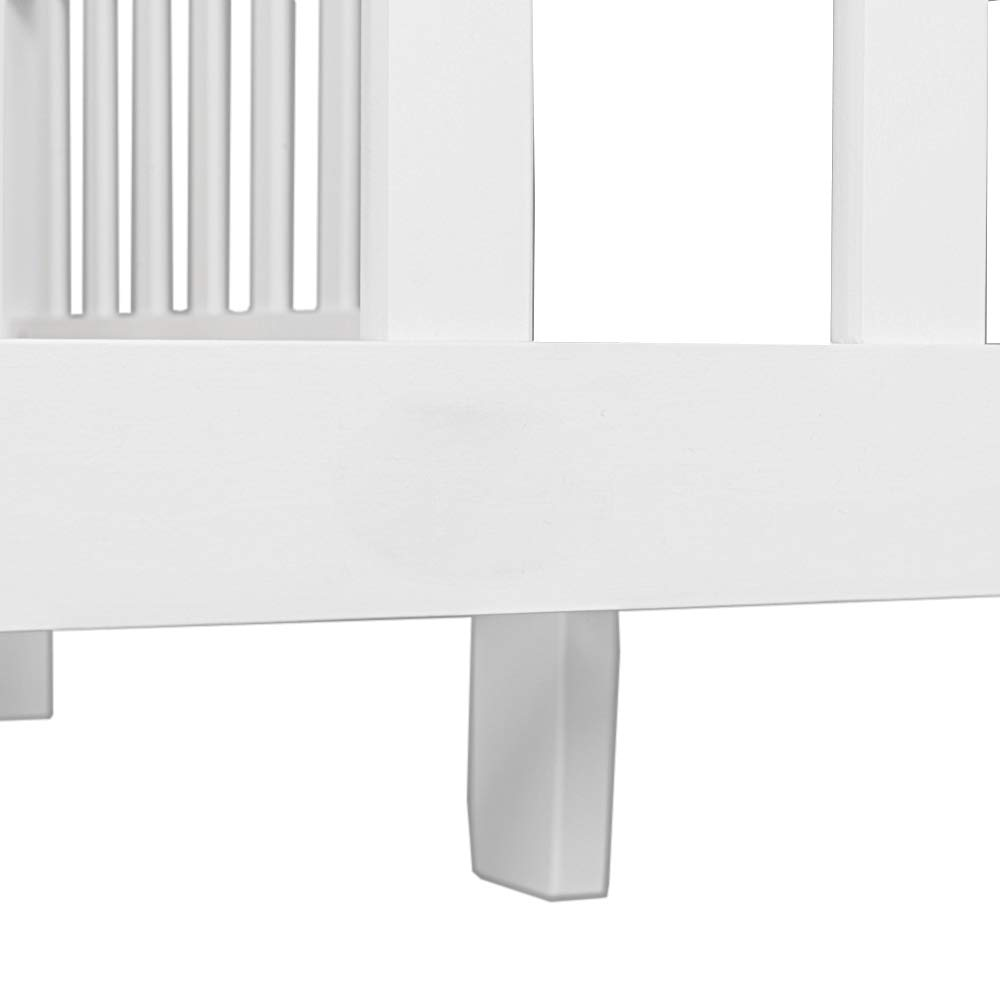 Baby Toddler Bed Classic Design Wood Bed Frame w//Two Side Safety Guardrails /& Wooden Slat Support for Kids Boys Girls Children Sleeping Bedroom Furniture,White